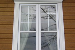 Crosshead, window pilasters and custom size sill