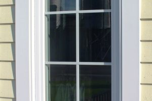 Window pilasters and custom size crosshead and sill