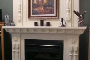 Fireplace fireplace created with decorative elements