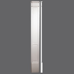 Recessed panel door pilaster pil90 dp cam mat for Recessed panel shutters