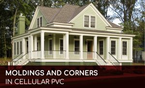 Molding corners cellular PVC