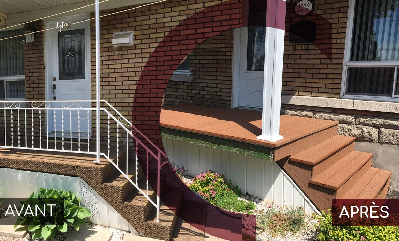 recouvrir un balcon en béton