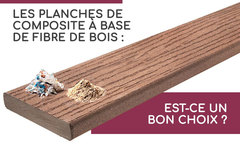 planches en composite fibre de bois